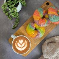 Rainbow Bagels Kit And Coffee Set