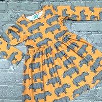 Organic Rhino Dress, Baby Dress, Girls Dress