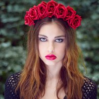 Statement Rose Crown Autumn Winter Colours, Red/Black/Wine