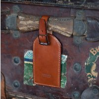 Steamship Leather Luggage Tag