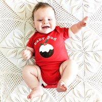 Little Pud Personalised Christmas Baby Grow