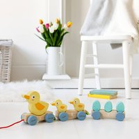 Personalised Pull Along Wooden Ducks