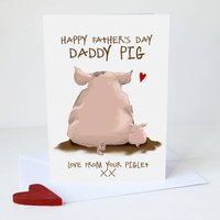 Father's Day Daddy Pig Card A5