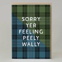 Peely Wally Tartan Card