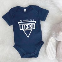 My Daddy Is A Legend Fathers Day Babygrow, White/Black/Navy