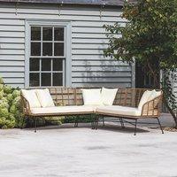 All Weather Rattan Corner Sofa With Cushions
