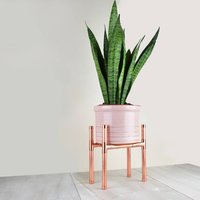 Copper Plant Stand Rectangle Base