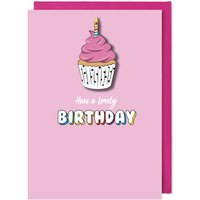Handmade Cute Birthday Cupcake Card