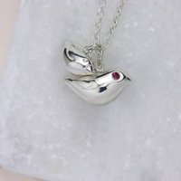 Personalised Mummy And Baby Bird Necklace