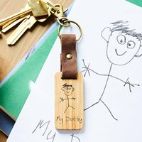 Personalised Child's Drawing Keyring