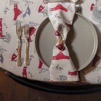 Luxury Designer Christmas Napkin Sets Winter Village