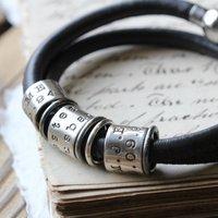 Identic Ten Story Bracelet, Dark Brown/Brown/Black