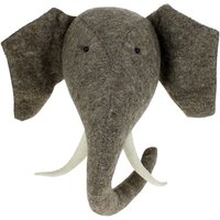 Elephant Felt Wall Head