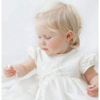 Christening Gown Violet, White/Ivory