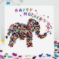 Elephant Mother's Day Card, Butterfly Mother's Day Card