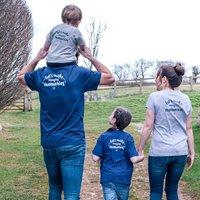 Lets Make Amazing Memories Family Tshirt Set, Grey/Navy/White