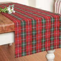 Red And Green Highland Tartan Table Runner