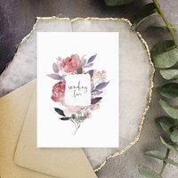 Purple And Pink Floral Sending Love Card