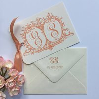 Initials Wedding Save The Date Cards, French Blue/Blue/Aqua