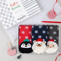 Festive Friends Box Of Socks