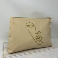 Glitter Abstract Face Cosmetic Bag