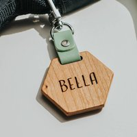 Personalised School Bag Tag With Quote