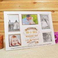 Personalised Collage Wedding Photo Frame