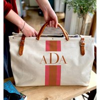 Personalised Colour Block Stripe Holdall