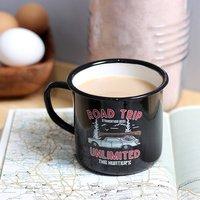 Staycation Enamel Personalised Camping Mug
