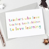 Love Learning Teacher Card
