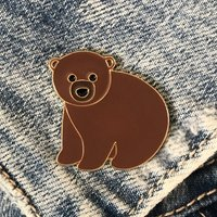 Bear Enamel Pin Badge