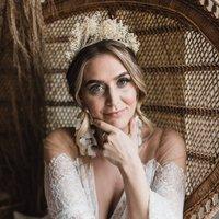 Bloom Broom Bridal Wedding Dried Flower Crown