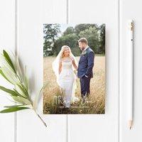 Photo Wedding Thank You Postcards, White/Cream/Brown