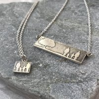 Personalised Mother And Daughter Family Necklace Set