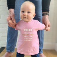 Happy First Fathers Day Baby Personalised T Shirt
