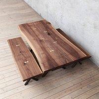Chelsea Extendable Live Edge Walnut Dining Table