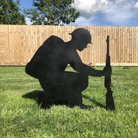 Remembrance Lest We Forget Soldier Garden Feature