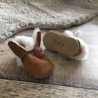 Personalised Bunny Sheepskin Baby Booties
