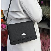 Structured Black Vegan Handbag