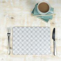 Meryam Placemat, Grey Geometric Tablemat