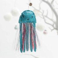 Sparkly Jellyfish Christmas Tree Decoration