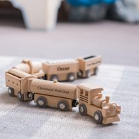 Personalised Wooden Christening Train