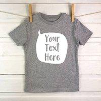 Speech Bubble Personalised Kids T Shirt