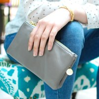 Personalised Amelia Soft Clutch Bag