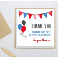 Personalised Party 'Thank You' Postcards