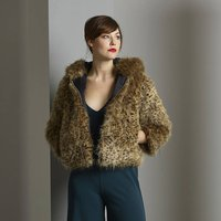 Luxuriously Soft Faux Fur Hooded Jacket