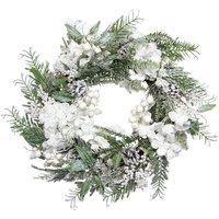 White Berry , Hydrangea And Fir Christmas Door Wreath