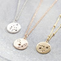 Constellation Star Sign Necklace Silver, Gold Or Rose, Silver