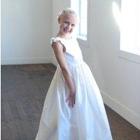 First Communion Dress In Pure Silk Or Flower Girl Dress