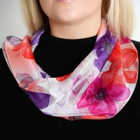 Anemone Snood Silk Scarf